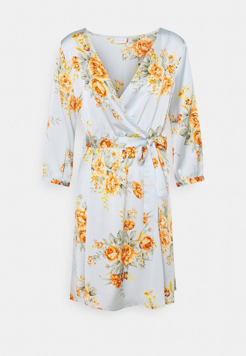 Vila - VIJOSE LUNA SHORT DRESS - Denní šaty - ashley blue