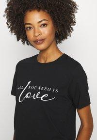 Anna Field - T-shirt imprimé - black - 4