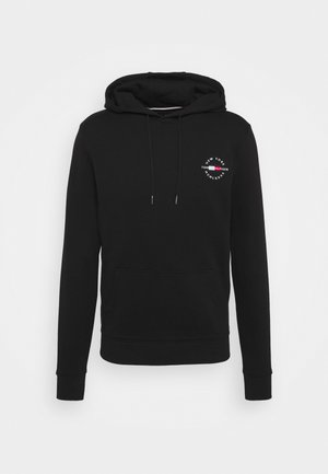 CIRCLE CHEST HOODY - Jersey con capucha - black