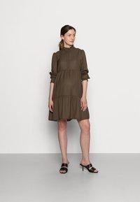 Pieces Maternity - PCMLULLA DRESS - Shirt dress - black olive - 1