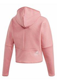 adidas Performance - ADIDAS Z.N.E. LOOSE FULL-ZIP HOODIE - Zip-up sweatshirt - pink - 1