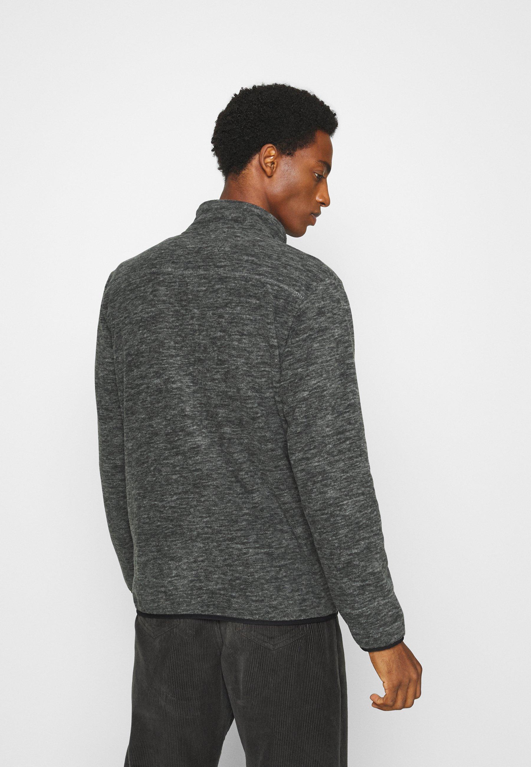 Indicode Jeans Bryant - Fleecejakke Charcoal Mix/antrasitt