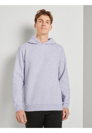 MIT STRUKTURMUSTER - Hoodie - light grey