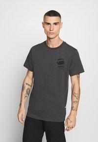 G-Star - BIG LOGO BACK  - Camiseta estampada - light shadow - 0