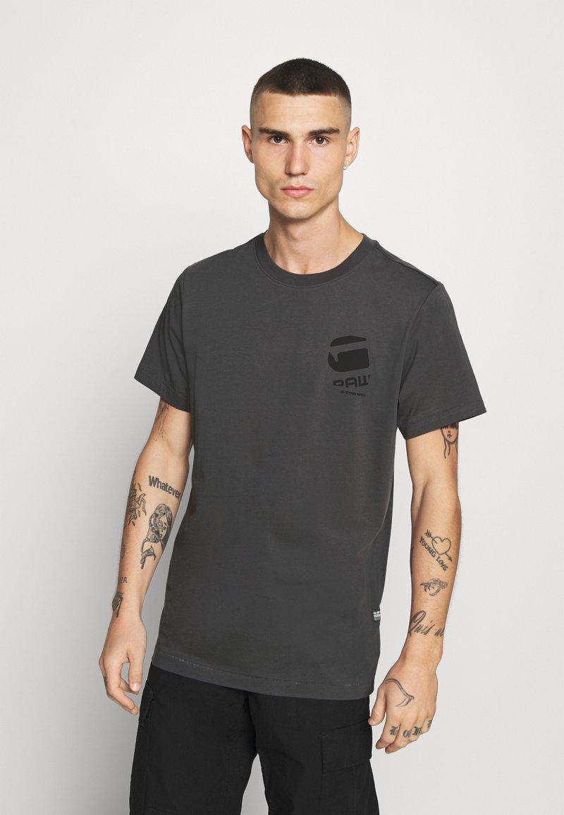 G-Star - BIG LOGO BACK  - Camiseta estampada - light shadow