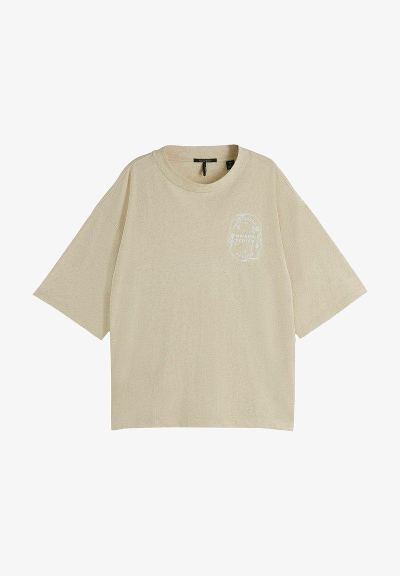 Scotch & Soda - Print T-shirt - ecru melange