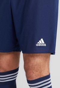 adidas Performance - PARMA PRIMEGREEN FOOTBALL 1/4 SHORTS - Korte sportsbukser - dark blue/white - 3