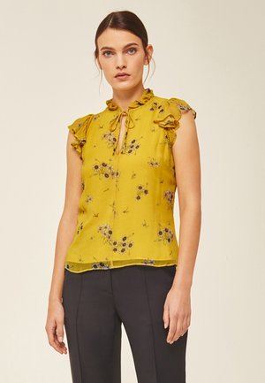 Blouse - fine flower sunglow