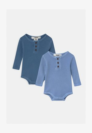 LONG SLEEVE BUBBYSUIT 2 PACK - Body - powder puff/petty blue