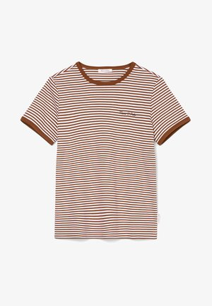 Print T-shirt - multi/chestnut brown