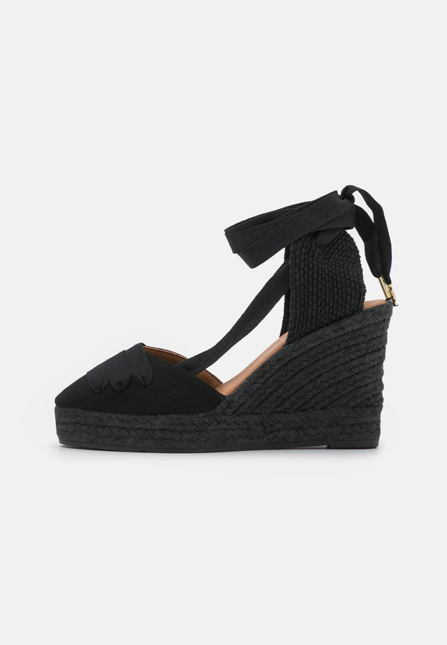 VEGAN WEDGE - Sandalen met plateauzool - black