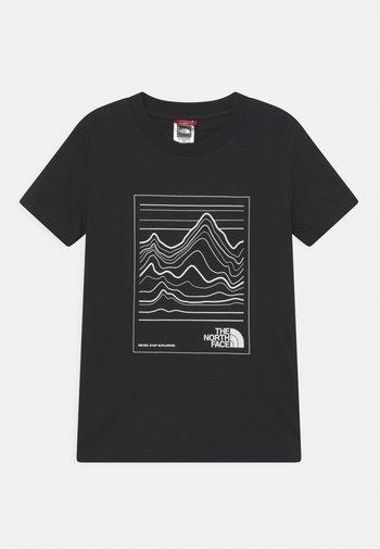 YOUTH MOUNTAIN TEE UNISEX - Camiseta estampada - black/white