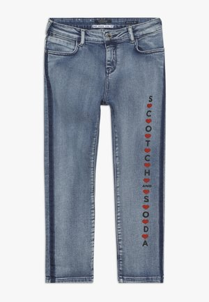 PETIT AMI ART FROM THE HEART - Jeans Relaxed Fit - blue denim