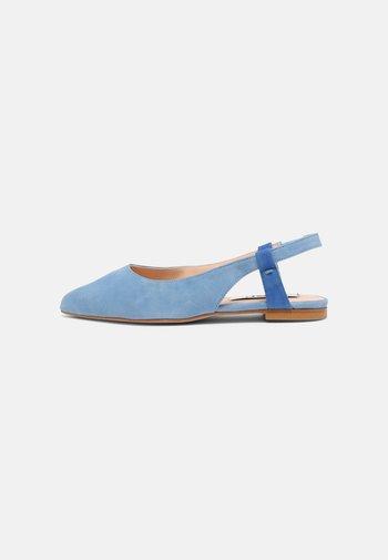 Slingback ballet pumps - blue