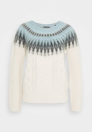 LONGSLEEVE CABLE  - Strickpullover - multi