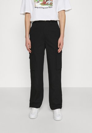 COMBA ELASTICATED - Cargo trousers - black