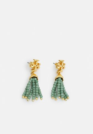 ROXANNE SMALL TASSEL EARRING - Earrings - alpine green