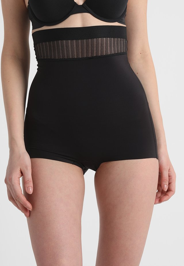 FIRM FOUNDATIONS  STAY PUT HI-WAIST BRIEF - Stahovací prádlo - black combo