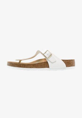 GIZEH - T-bar sandals - white