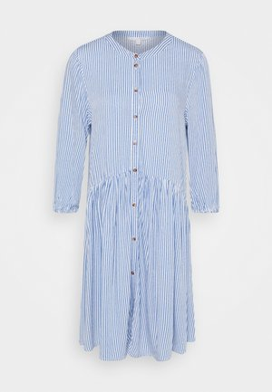 WITH BUTTON DOWN PLACKET - Shirt dress - mid blue/white