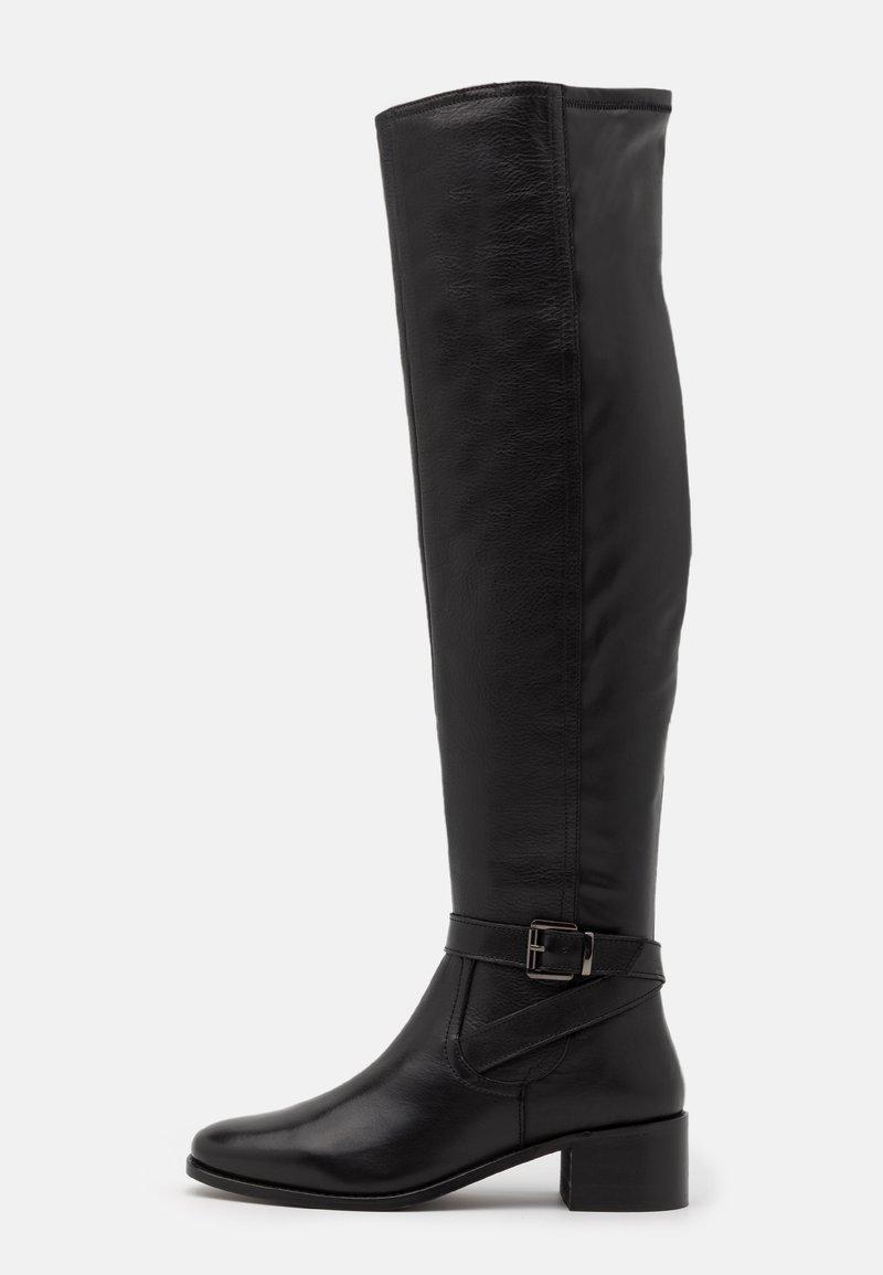 Dune London - TESLEY - Kozačky nad kolena - black