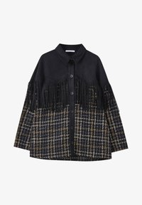 PULL&BEAR - Button-down blouse - mottled black - 4