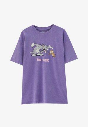 TOM&JERRY - T-shirt med print - purple