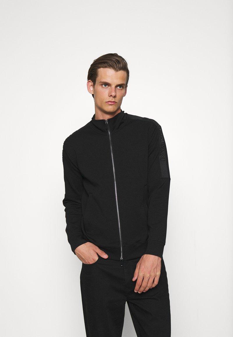 Emporio Armani - Felpa con zip - black