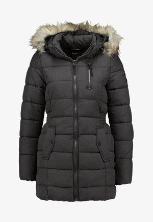 ONLNORTH COAT  - Zimní kabát - black melange