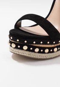 Steve Madden - MAURISA - Sandály na vysokém podpatku - black - 2
