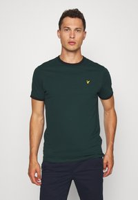 Lyle & Scott - RINGER TEE - Basic T-shirt - jade green/black - 0