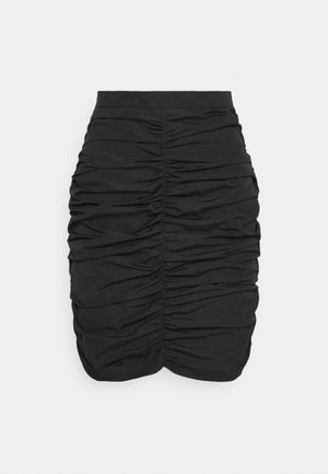 RUCHED SKIRT  - Minifalda - black