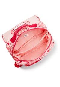 Kipling - INIKO - Schooltas - pink leaves - 3