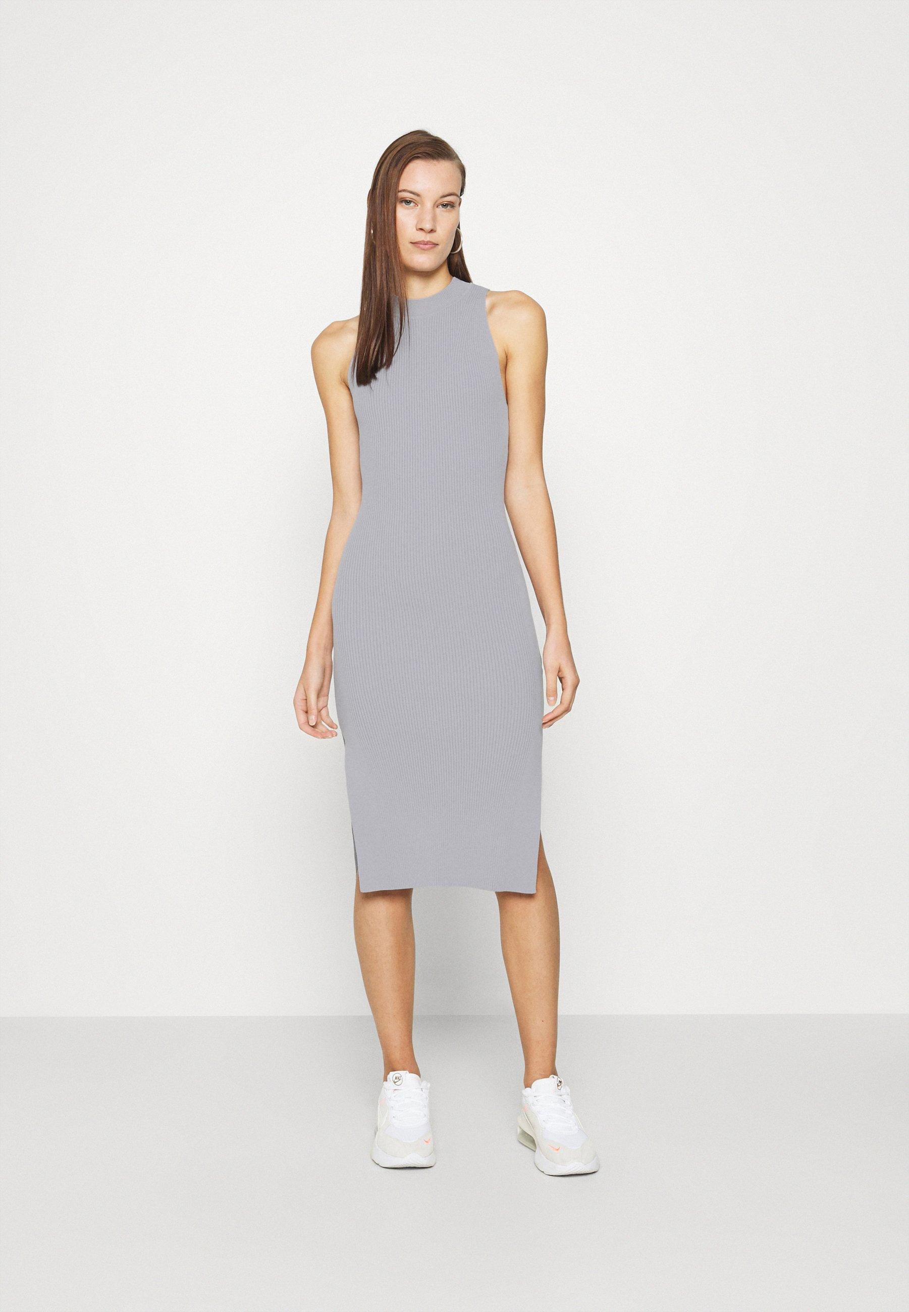 Women MOCKNECK MIDI SWEATER DRESS - Jumper dress