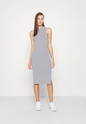 MOCKNECK MIDI SWEATER DRESS - Jumper dress - blue-gray