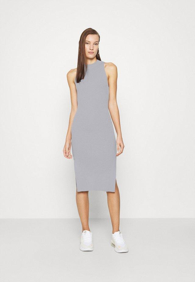 MOCKNECK MIDI SWEATER DRESS - Gebreide jurk - blue-gray