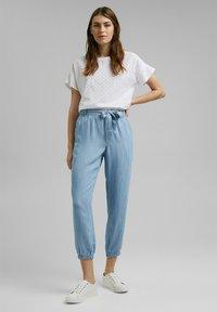 Esprit - Pantalon classique - blue bleached - 1