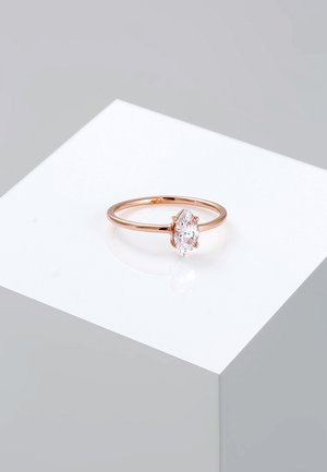 MARQUISE - Ring - rosegold-coloured/white