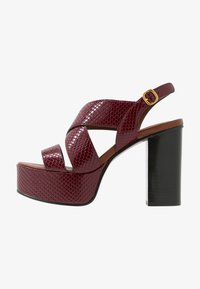 High heeled sandals - bordeaux