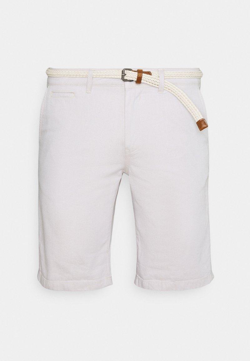 TOM TAILOR DENIM - WITH BELT - Shorts - beige twill