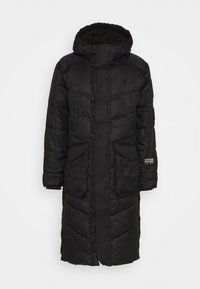G-Star - UTILITY QUILTED EXTRA LONG PARKA - Winter coat - namic lite black - 6