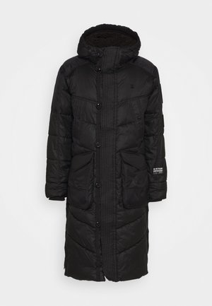 UTILITY QUILTED EXTRA LONG PARKA - Winter coat - namic lite black