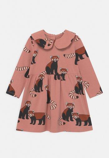 DRESS BIG COLLAR RED PANDA - Jersey dress - dusty pink