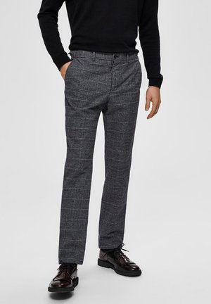 SLIM FIT - Trousers - dark grey