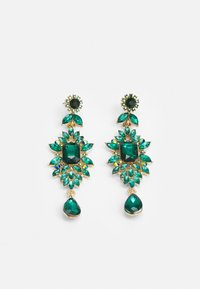 Pieces - PCSARALINN EARRINGS  - Ohrringe - gold-coloured/green - 0