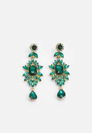 PCSARALINN EARRINGS  - Øredobber - gold-coloured/green