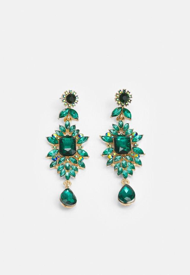 PCSARALINN EARRINGS  - Kolczyki - gold-coloured/green