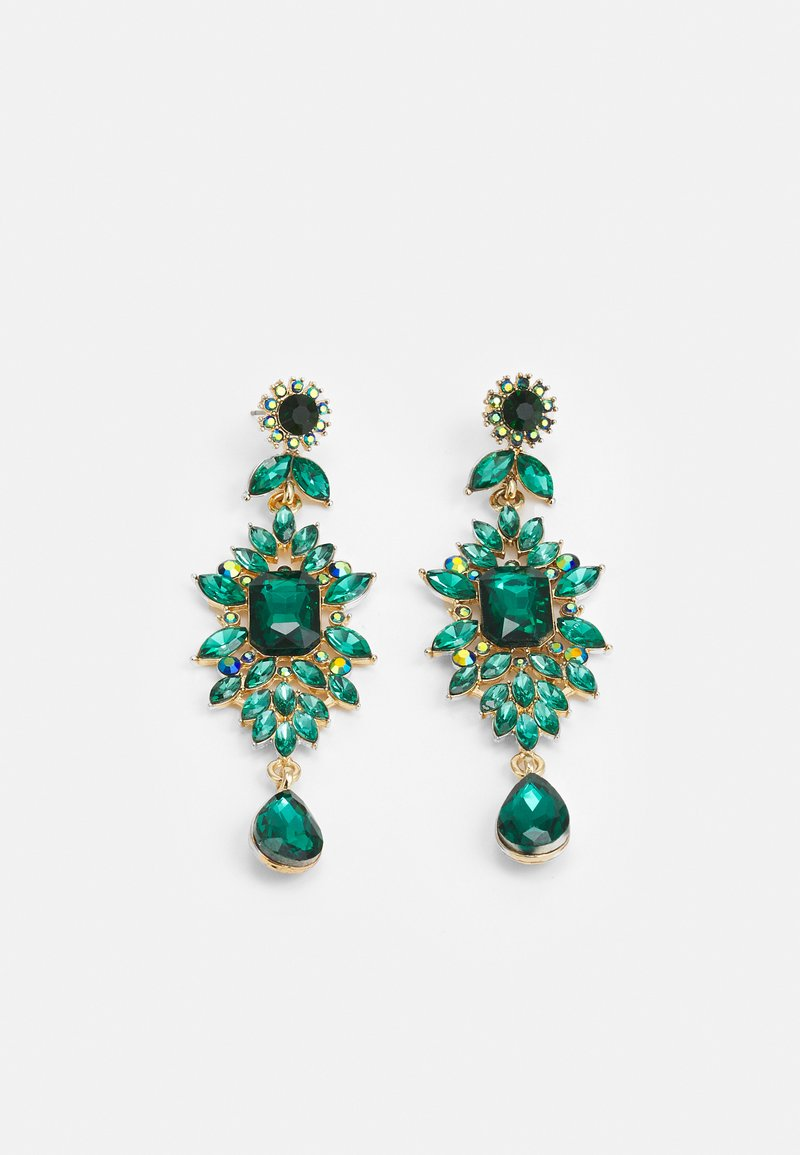 Pieces - PCSARALINN EARRINGS  - Ohrringe - gold-coloured/green