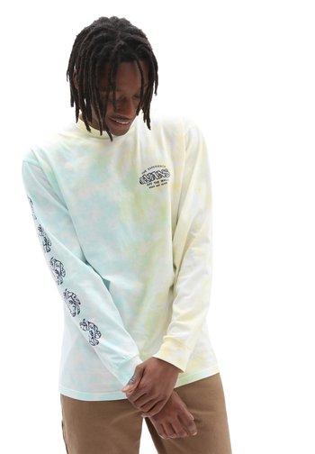 MN THE VANS EXPERIENCE TIE DYE LS - Long sleeved top - porcelngrn/gldnglw/tiedye