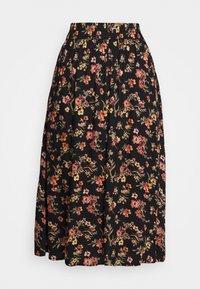 PCCARLA MIDI SKIRT - A-line skirt - black